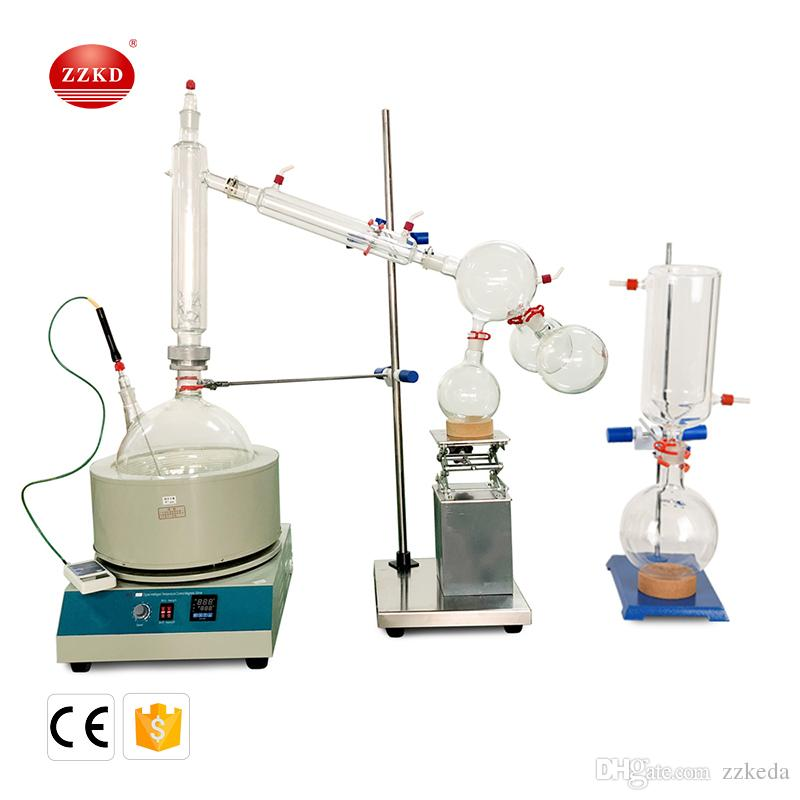 Fast Shipping ZZKD 10L Lab Supplies Suitable for Enrichment Crystallization Drying Separation Short essential oil distillation equipment