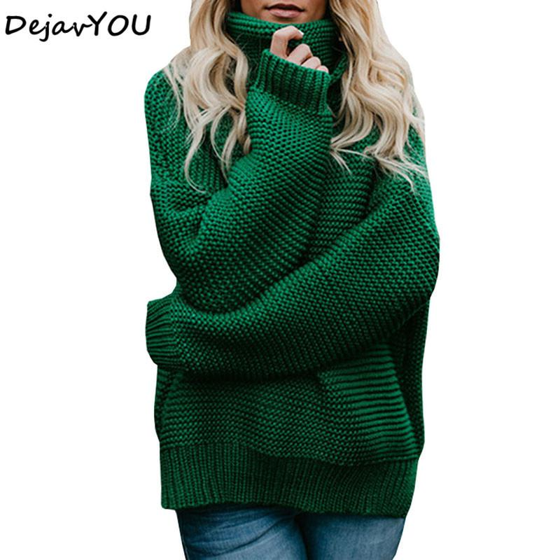 4e4535b735 2019 Coarse Pullover Women S Jumper Turtleneck Sweater Female Jumper Women  Warm Sweater Thick Winter Cable Knitted Oversized Sweater D1892001 From  Yizhan04
