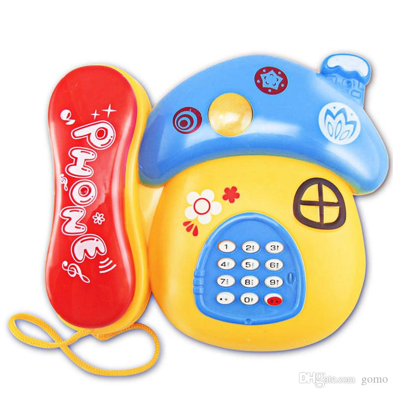 Juguete Electronico Telefono Dibujos Animados Setas Telefono Movil Aprendizaje Educativo Musica Y Sonido Telefono De Juguete Para Ninos Color