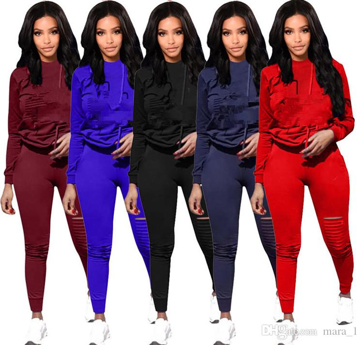cd1f4e59057 Women Two Piece Outfits Hoodie Leggings Tracksuits Warm Winter Autumn Long  Sleeve Sweatshirts Sweat Pants Sportswear Wholesale 3333 Online with $15.6/ Set on ...