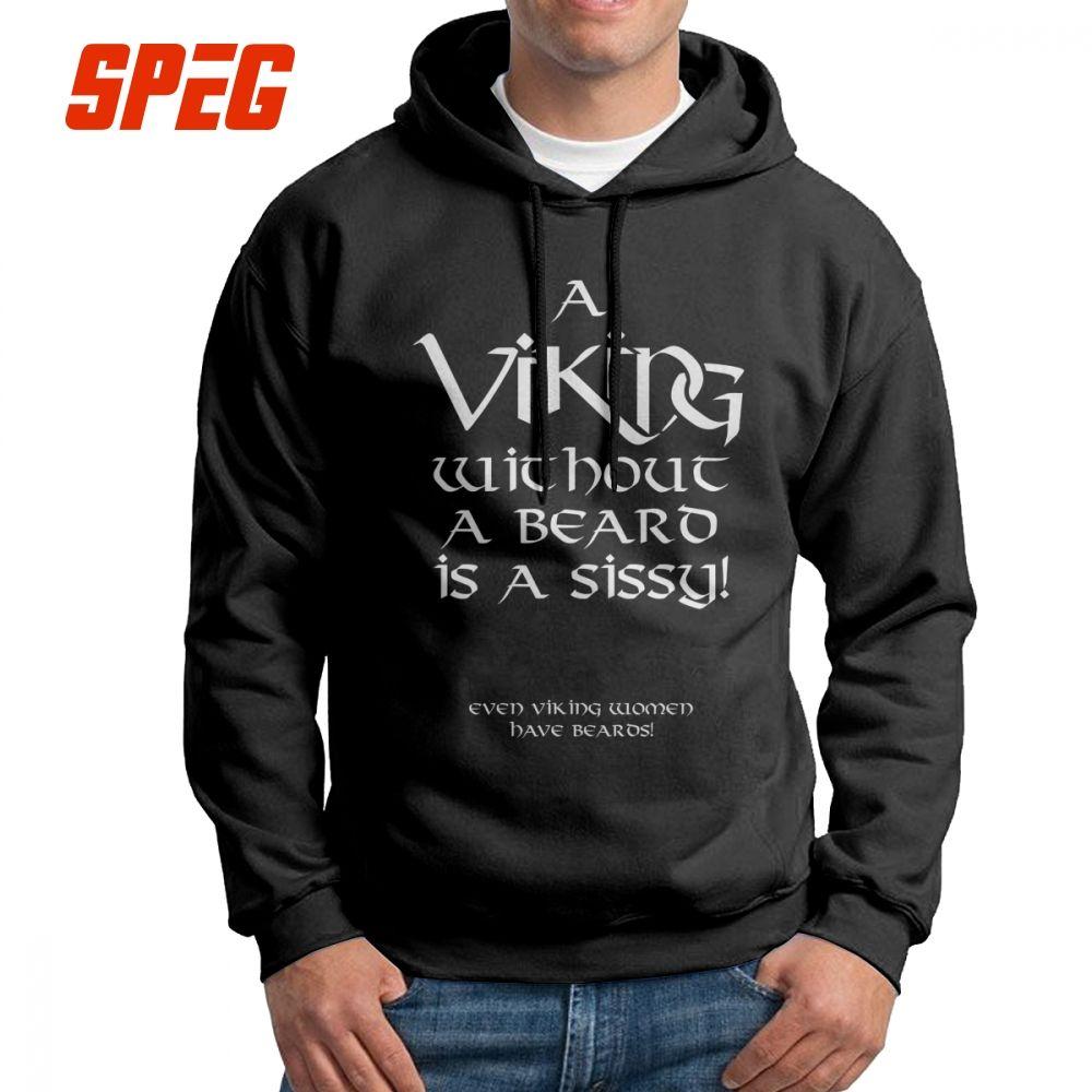 ac7e7131 Viking Beard Men's Sweatshirt Cotton Novelty Hoodie Wholesale Hoodie Shirt