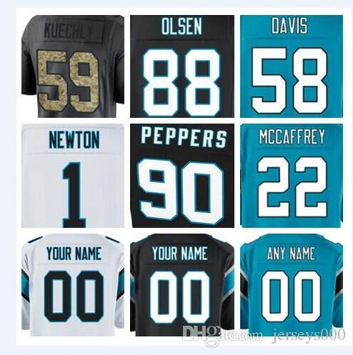 d44e850f2 2018 Carolina Cam Newton Panthers Jersey Julius Peppers Devin ...