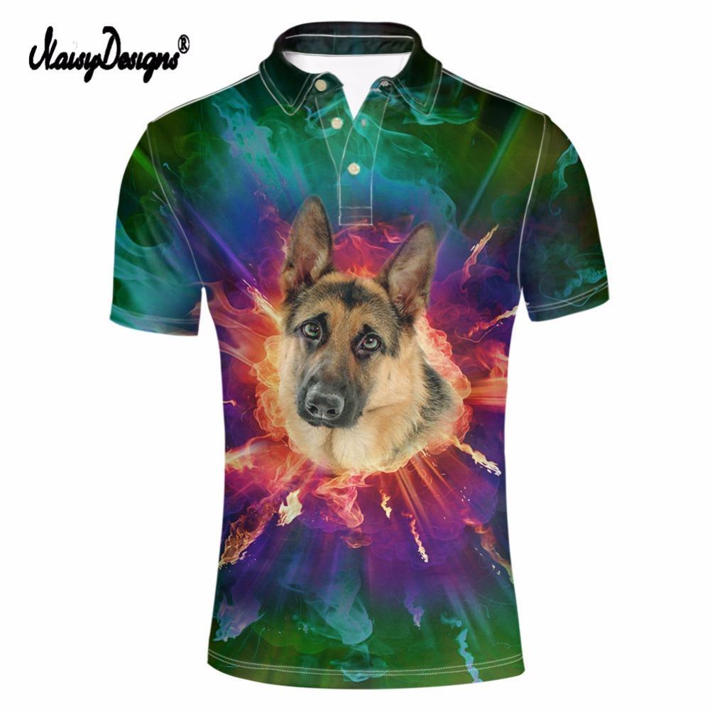 Acquista NoisyDesigns Camicia Uomo Tiger Dog Print Ralph Manica Corta Camicie  Uomo Men S Plus Size Camicia Antipilling Slim 3xl A  45.36 Dal Bevarly ... 9730232c572