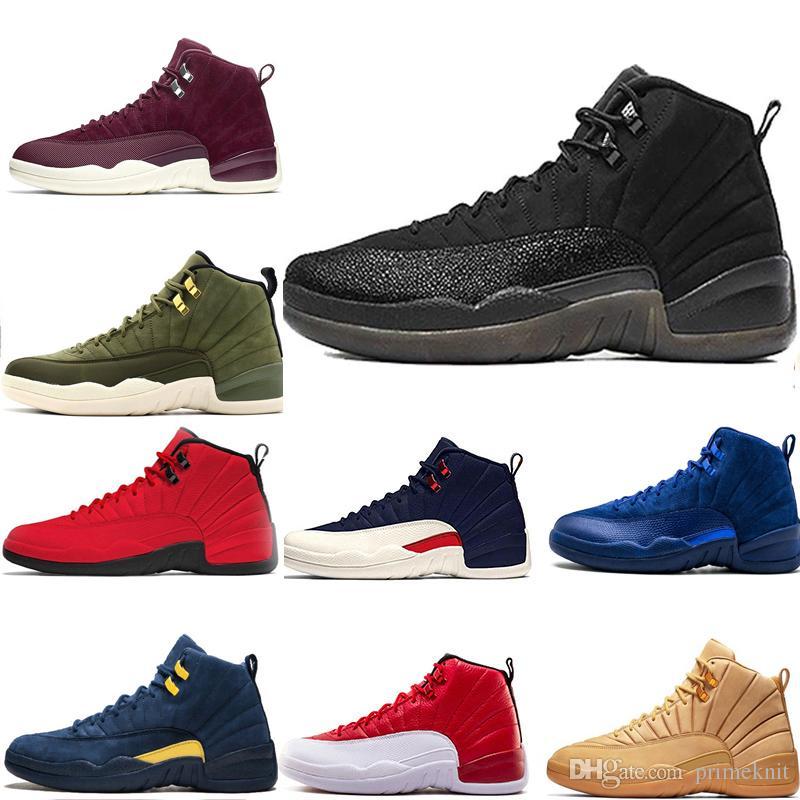 edf5b8ca4620 New 12 12s Men Women Basketball Shoes Playoff Michigan University Gamma  Blue Navy Bulls UNC Flu Game Taxi Black White Red Sport Sneaker Women  Basketball ...