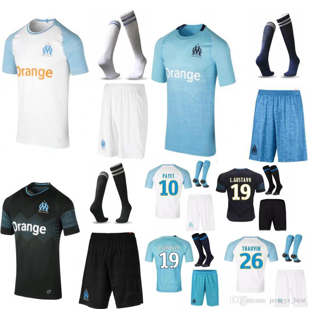 AA Olympique De Marseille Adult Kit Jerseys 2018 2019 OM Marseille ... 60930fcd1