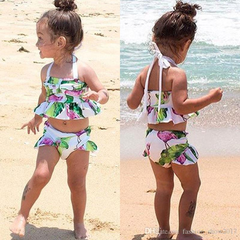 f929924420 2019 Brand New Newborn Toddler Infant Child Kid Baby Girl Flamingo Swimwear  Swimsuit Bikini Set Bathing Suit Costume 1 6T From Fashion_show2017, ...