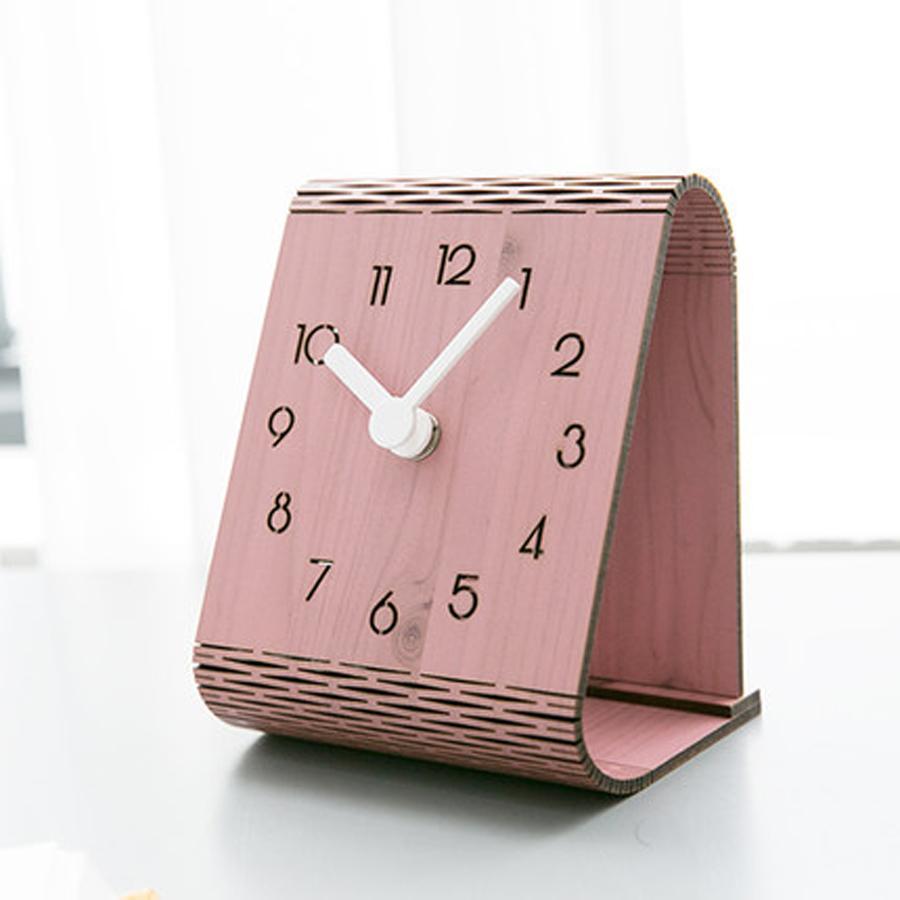 Creative Wooden Table Clock Modern Design Bedroom Decoration