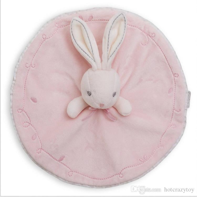 Baby products cartoon rabbit doll square towel hand hold toy pacify plush towel