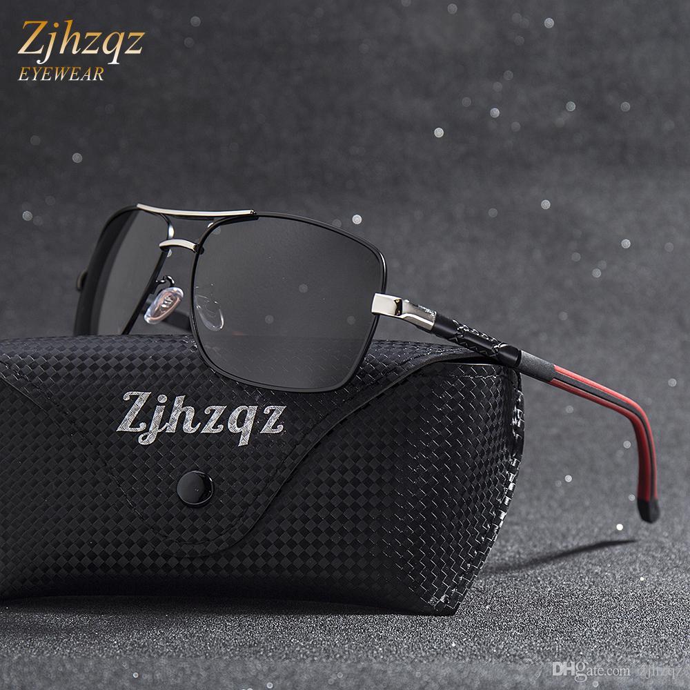 80c7f4671b2 New Brand Men Aluminum Sunglasses HD Polarized UV400 Mirror Fishing ...