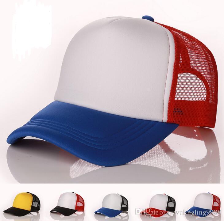 f8552ff4a18f0 Blank Trucker Mesh Hats Spring Summer Snapback Baseball Caps For Men Plain  Foam Net Snap Back Baseball Cap For Women Sun Hat Custom Fitted Hats Design  Your ...