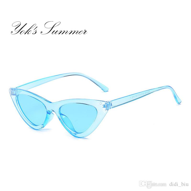 82ac69104ec Yok S Summer Cat Eye Sunglasses Women PC Transparent Frame Sun Glasses For  Women Luxury Brand Blue Mirror Lens Gafas Femme WL071 Canada 2019 From  Didi biu