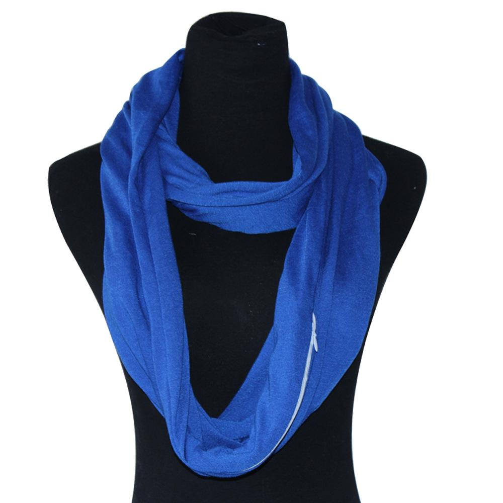 0d63214c4bfe3 Spot 2018 Hot Sale Fashion Pocket Creative Scarf Solid Color Simple ...