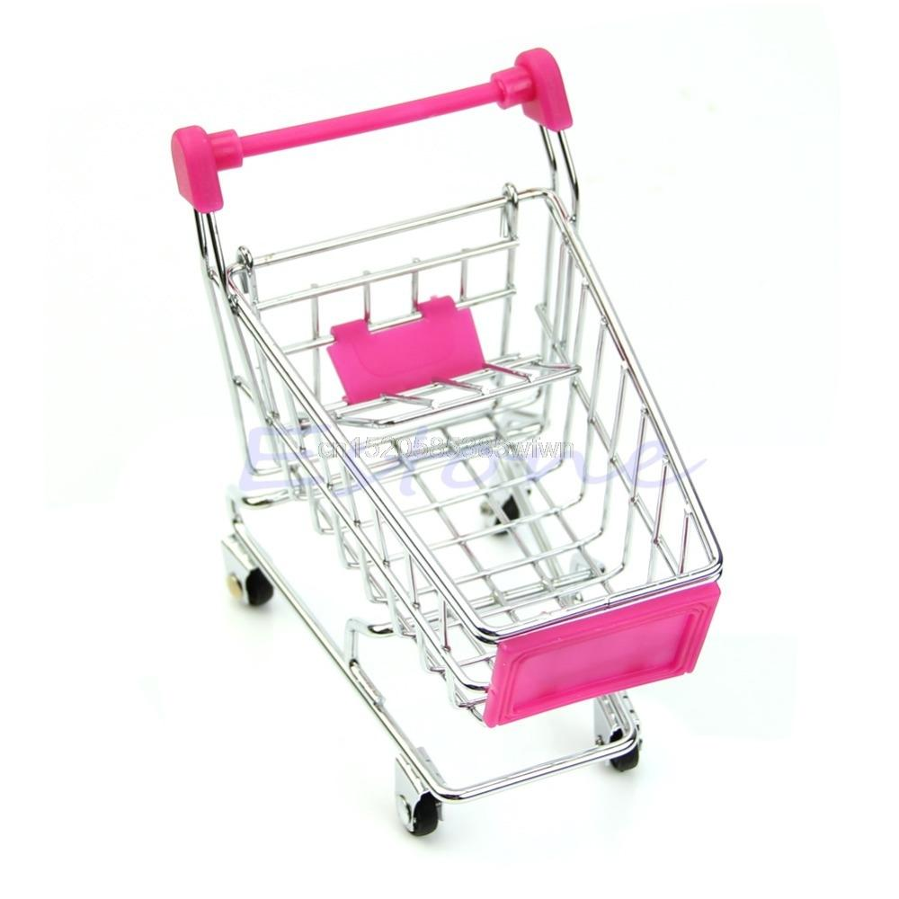 Home & Garden Mini Shopping Cart Toy Cart Simulation Supermarket Shopping Cart Storage Pretend Play Cake Decoration Accessories