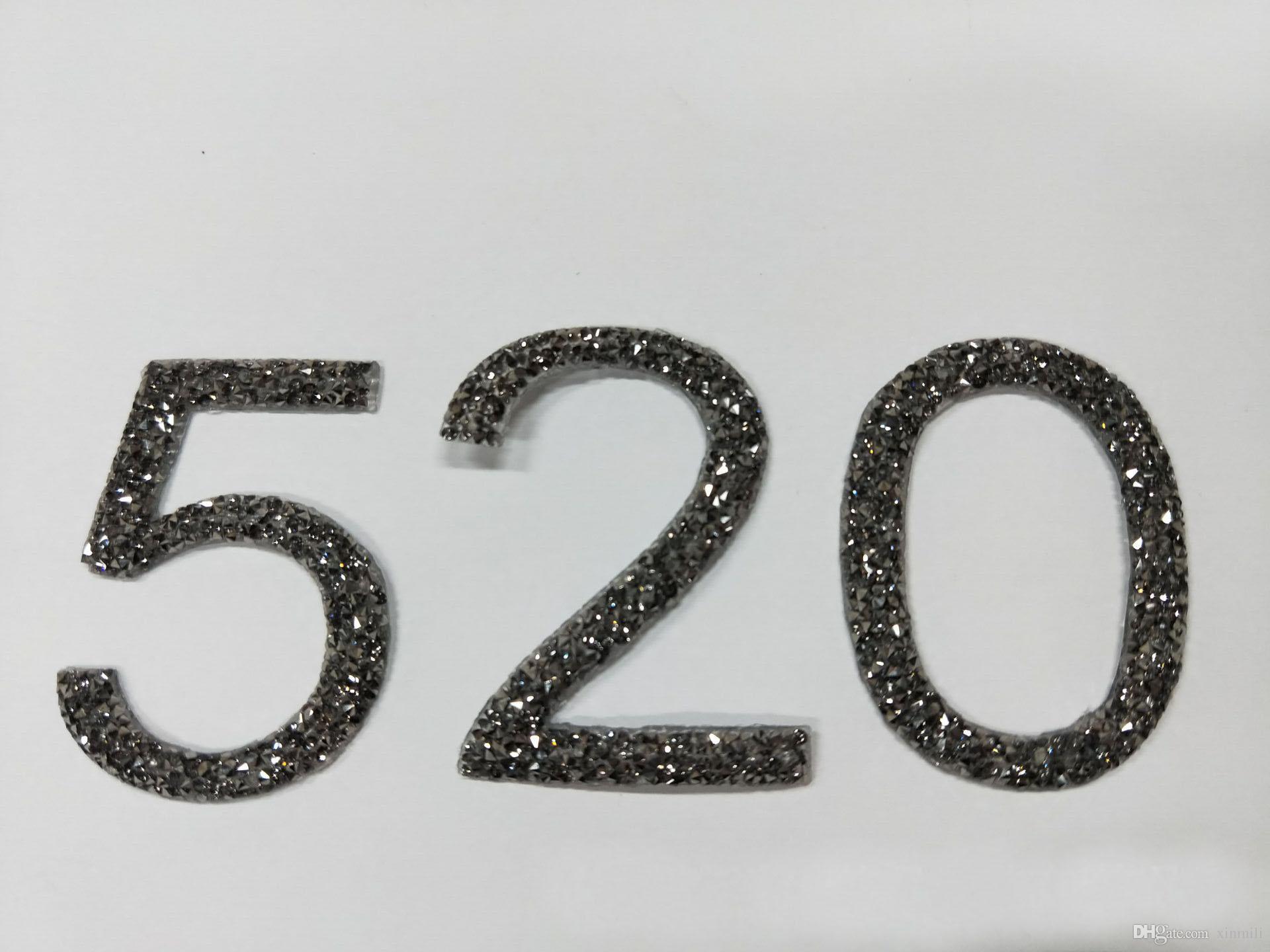 3D numero roccia diamante nero diamoncrystal hotfix strass motivi ferro sul trasferimento patch di strass applique cappelli di abbigliamento 10 pz / lotto