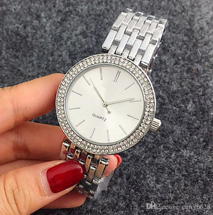 686ce5d39fe Compre Reloj Aaa Qualidade 38mm Roman Digital Dial Branco Cheio De  Diamantes Relógio Das Senhoras Dress Moda Marca De Luxo Relógios Pulseiras  De Mulheres ...