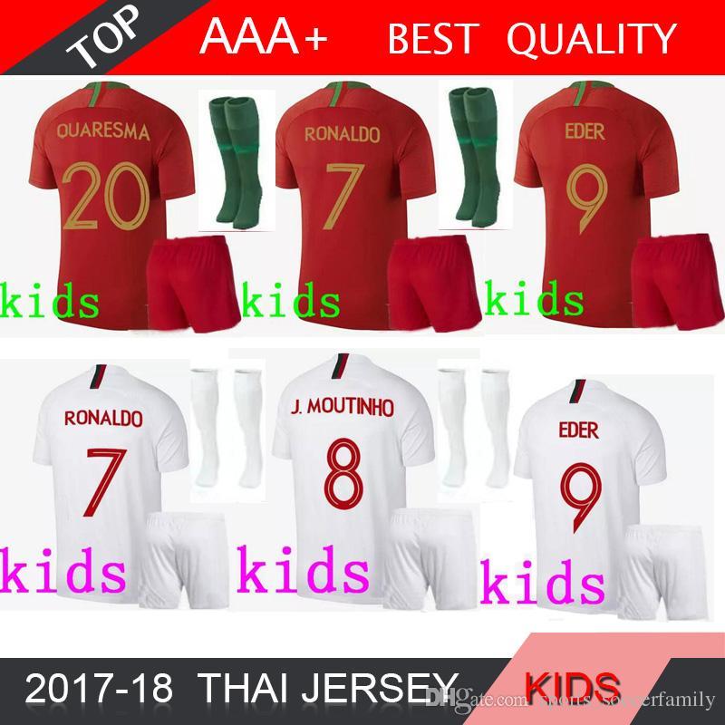 2019 18 19 RONALDO NANI EDER Kids Soccer Jerseys QUARESMA Boy 2018 World  Cup Home Away SOCK DANILO PEPE Camisetas Kit Shirts From  Sports soccerfamily bc35c2fe0