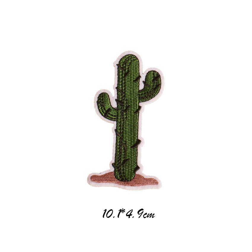 9 teile / satz Kaktus Happy Star Parches Gestickter Hund Sunglass Eisen auf Flecken für Kleidung DIY Streifen Aufkleber Appliques