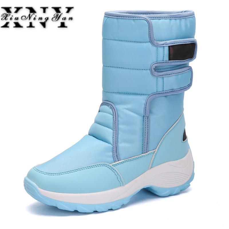 eea430064a65 XIUNINGYAN Female Snow Boots Winter Boots Women Flat Waterproof 2015 Shoes  Botas Mujer Femininas De Inverno Black Plus Size 42 Boots For Women Black  Boots ...