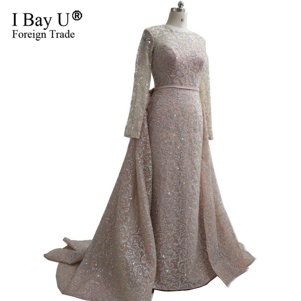 11b17cb8f01d3 Real Photos Champagne Glitter Arabic Girl Dresses Mermaid Evening Dresses  2018 Lace Long Evening Gown Gatsby Dress Stylish Evening Dresses Summer  Evening ...
