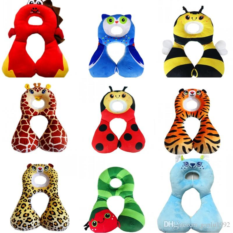 Children Travel Pillows Infant Child Neck Nursing Back Cushion Cartoon Animals Printing Baby U Shaped Pillow 16tx C R