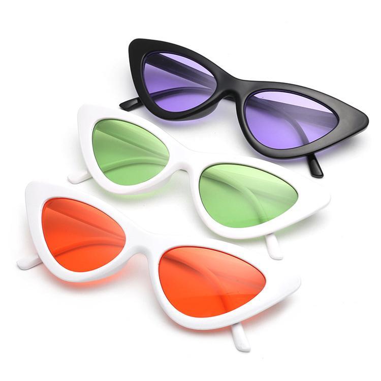 a0f10e83452d7 Compre 15 Estilos Diferentes De New Triangular Olho De Gato Óculos De Sol  Europeus E Americanos Moda Tendência Doce Cor Personalidade Lente T6C032 De  ...