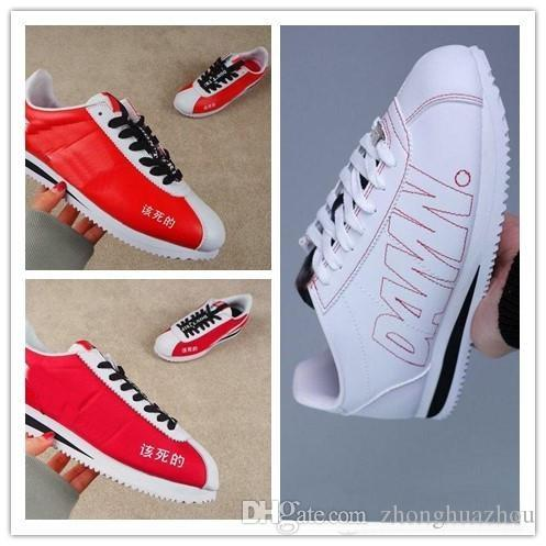 00f79c4876e9 Classic Cortez Kenny 1 X Kendrick Lamar DAMN Men Women Casual Shoes Fashion  Retro Canvas Shoes Low Top Sneakers Leather Runners Shoes