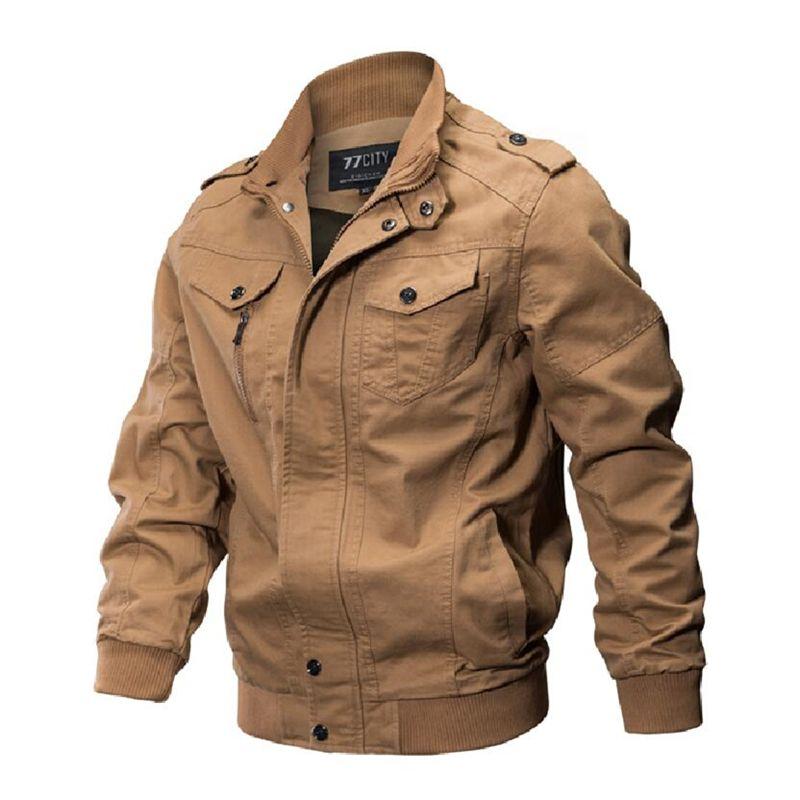 eca469e34de7 2018 Winter Jacket Men Autumn Cotton Pilot Jacket Coat Army Men's Bomber  Jackets Cargo Flight Male Plus Size 6XL