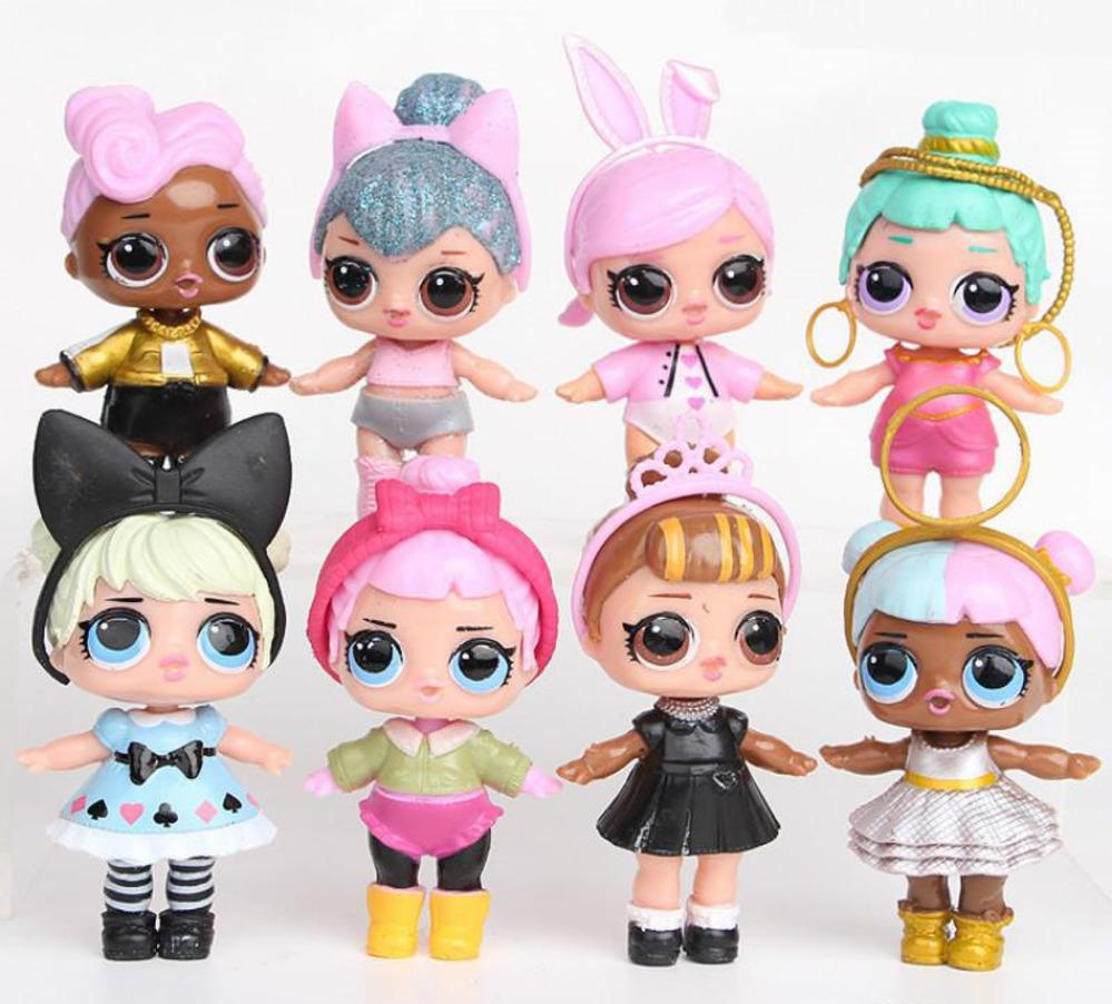 9cm lol doll american pvc kawaii children toys anime action figures realistic reborn dolls for girls dhl clothes for 18 inch dolls toy baby dolls from