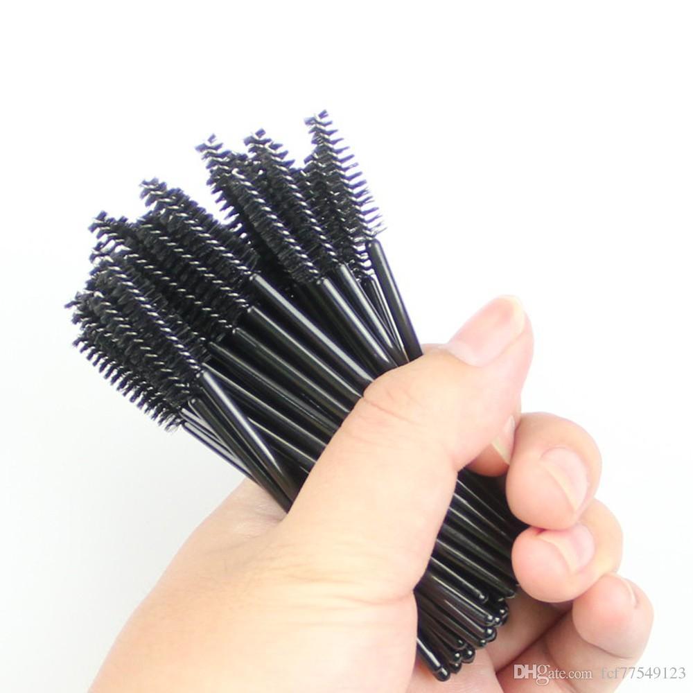 Tamax MW001 50Pack 일회용 속눈썹 마스카라 브러쉬 Wands Applicator Makeup Brush Kits Pink Dropship 재고 있음