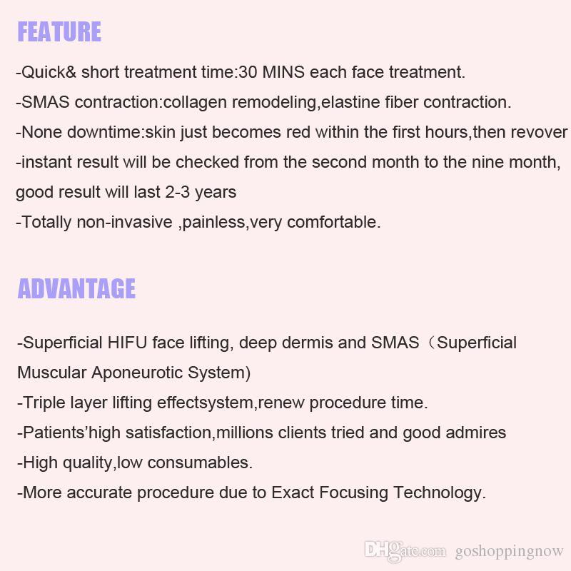 Yeni Taşınabilir Anti Aging Kırışıklık Kaldırma Cilt Sıkılaştırma Yüz Hifu Makinesi Yüksek Yoğunluklu Odaklanmış Ultrason HIFU Makinesi