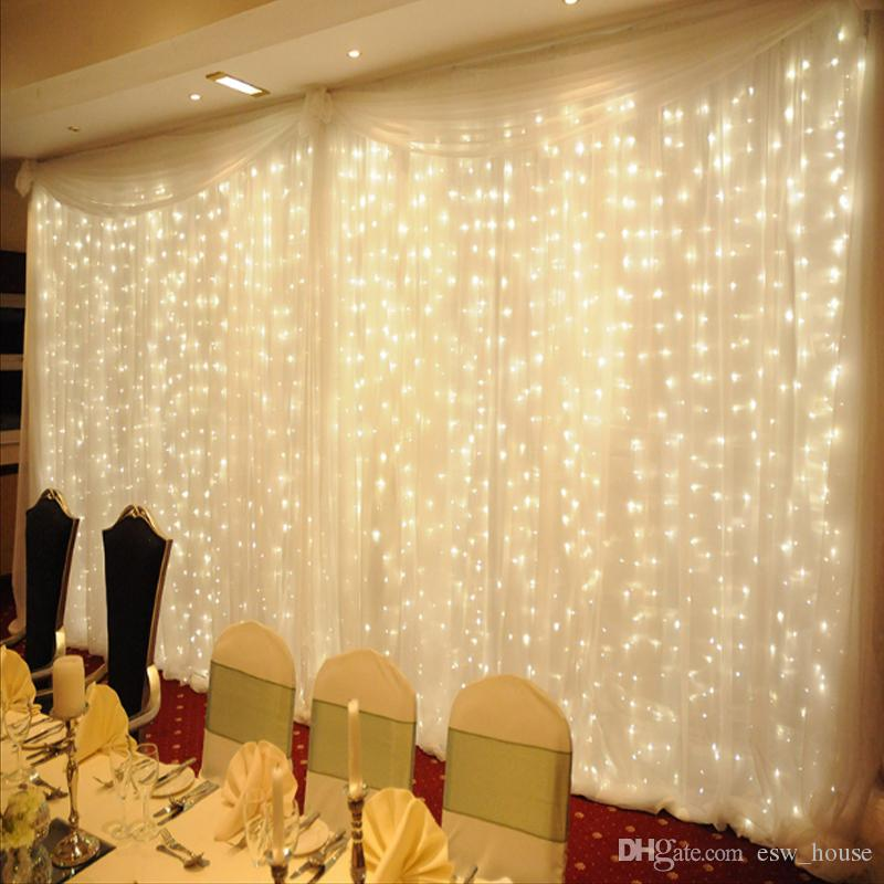 Twinkle Star led fairy light 300 LED Window Curtain String Light Wedding  Party Home Garden Bedroom Outdoor Indoor Wall Decorations