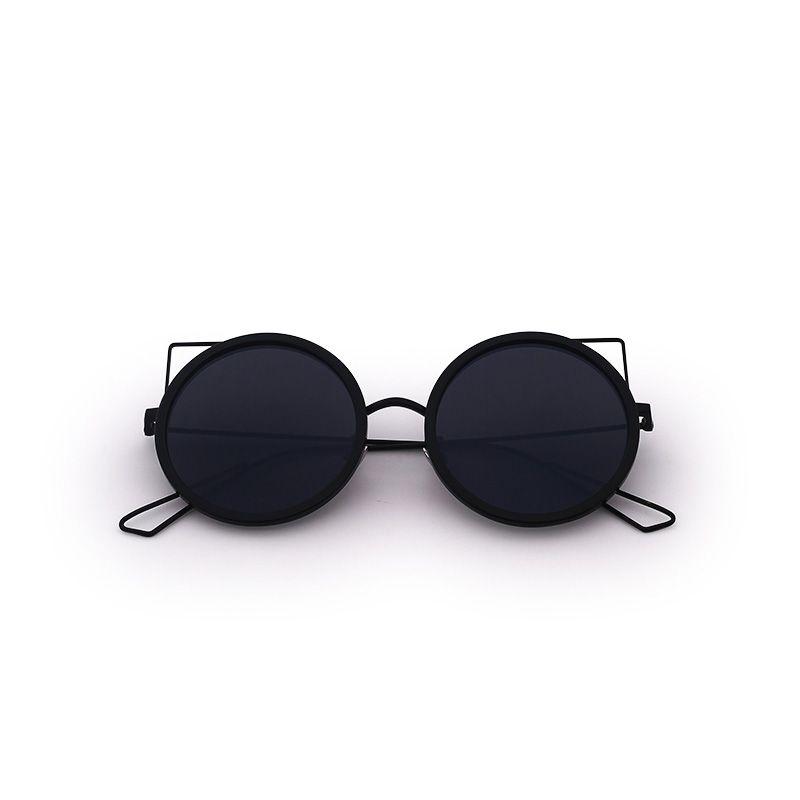 2ca7f19a40b FONHCOO Metal Cat Ear Sunglasses Women Vintage Retro Summer Style ...