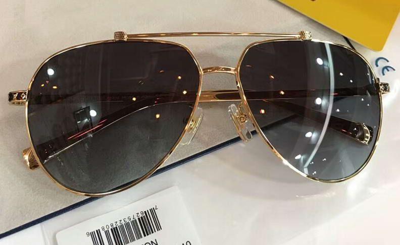 187b7127b Compre Homens Atitude Óculos De Sol Piloto Ouro / Cinza Sombreado Z0922  Sonnenbrille Óculos De Sol Designer Óculos De Sol De Condução Óculos Novo  Com Caixa ...