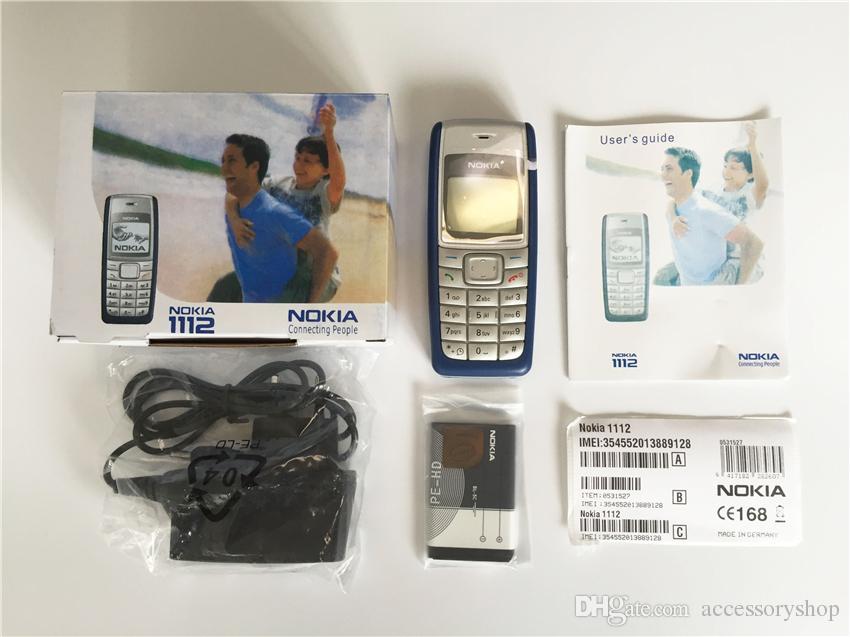 Refurbished Original NOKIA 1112 Unlocked Bar 2G GSM Mobile Phone Multi Language Full Set Free Post