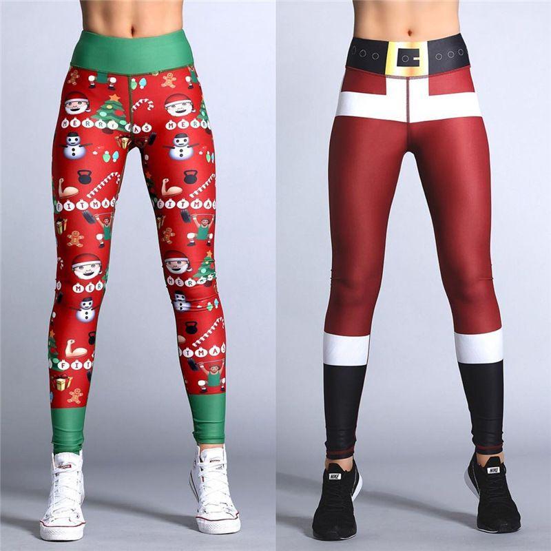 e39e15399b9e9 2019 2018 Hayoha Christmas Printing Leggings Put Hip Elastic High Waist  Legging Breathable Merry Christmas Pants From Cover3127, $45.51   DHgate.Com