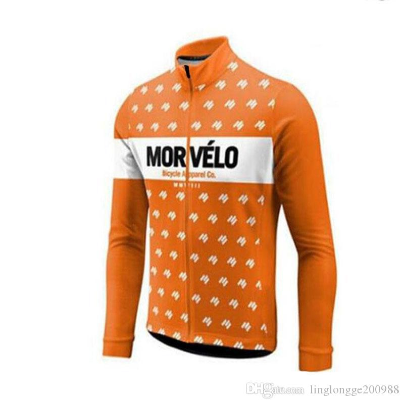 f58a0e9c7 2019 Cycling Jersey Spring Autumn Team Morvelo Long Sleeve Mens Cycling  Jersey Ropa Ciclismo Bike Bicycle Clothes Clothing 2018 From  Linglongge200988