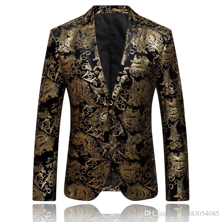 Acheter Grossiste Or Blazer Pour Hommes Marque De Luxe Floral Blazer Veste  Formelle Hommes Brodé Blazer Vintage Costume De Bal Blazers Casual Manteau  Q51 De ... 62394ffccbf