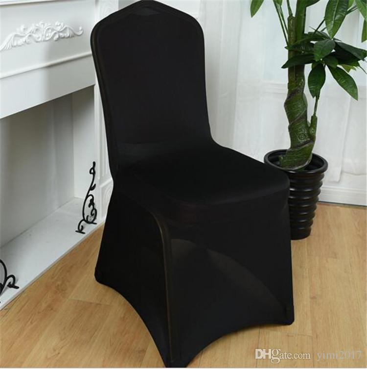 New arrive universal chair covers polyester white spandex wedding party chair cover for wedding party banquet many color