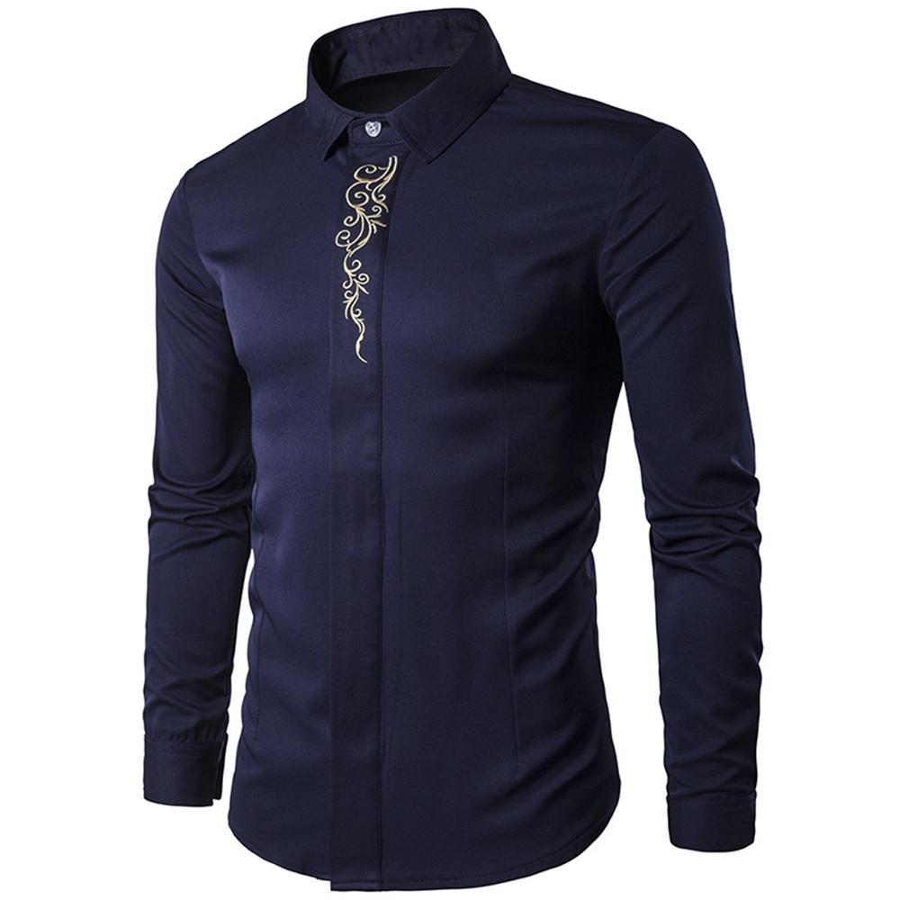Grosshandel Vintage Manner Shirt Blumendruck Chinesischen Stil Reifer