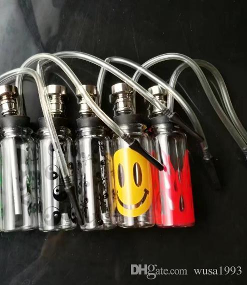 2018 Novo bong !! Mini vidro bongs mix cor tubo de água de vidro marca internacional DK entrega gratuita
