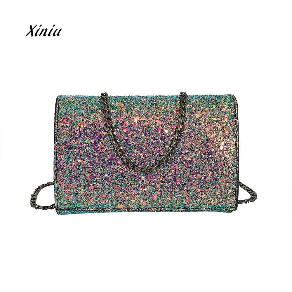 NEW Fashion Crossbody Bag Women Girl Leather Crossbody Shoulder Bag With Bling  Sequins Ladies Elegant Messenger Wallet Bags Purses Designer Handbags From  ... 113c8eb1c98d