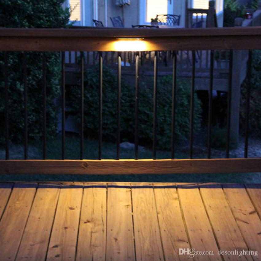 Ac Dc 12v Led Deck Step Retaining Wall Light Waterproof Outdoor Garden Stairs Railing Light Laminate Flooring Terrace Lighting Wide Selection; Led Lamps