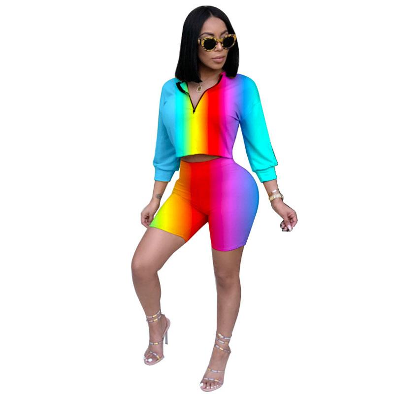 0d5765d3a0e Cheap 2018 Autumn Set Women Sexy Long Sleeve Top And Shorts Bodycon  Tracksuit Clothing Casual Two Pieces Stretchy Outfits