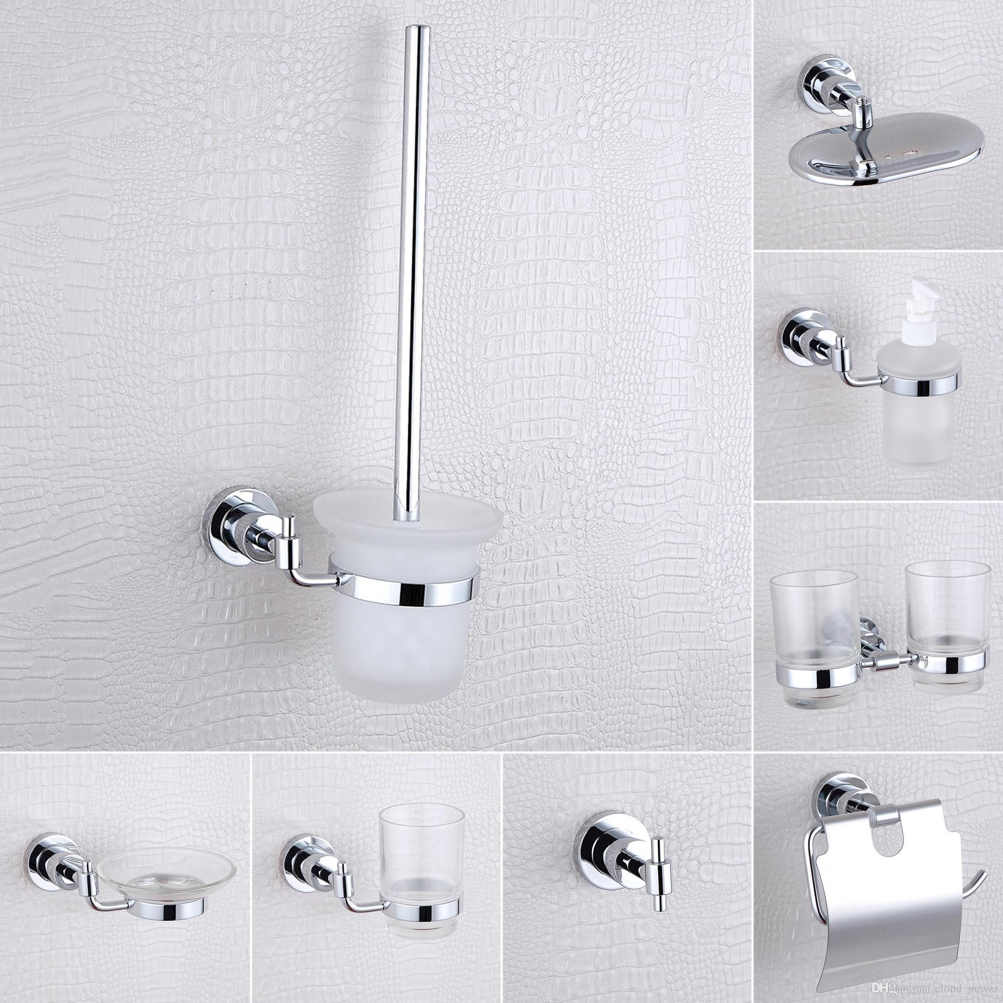 2018 Shower Shampoo Soap Dispenser Dish Toilet Paper Brush Holder ...