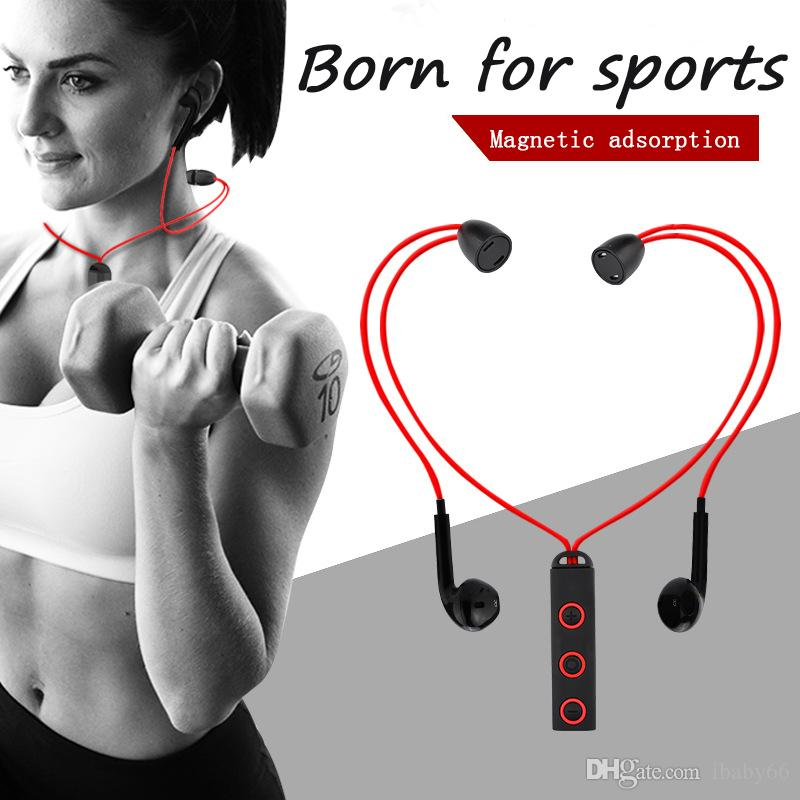Nuevo BT313 Auricular magnético Bluetooth Auricular Deportivo Auricular Auricular Bluetooth Con micrófono Auriculares estéreo Para todos los teléfonos