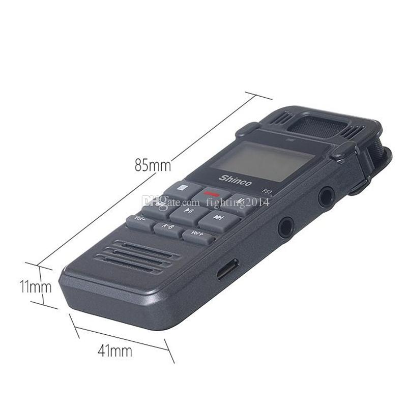 Portable Metal HD Noise Reduction Digital voice recorder 8GB mini Dictaphone Telephone Recording with MP3 Player supporting A-B Repeat