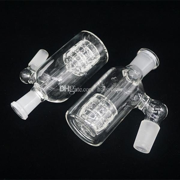Glass Ash Catcher Matrix Perc 14mm 18mm 19mm Joint 45 Degree Glass Ashcatcher For Glass Water Bubbler Bong Hookah Pipe Smoking Accessories