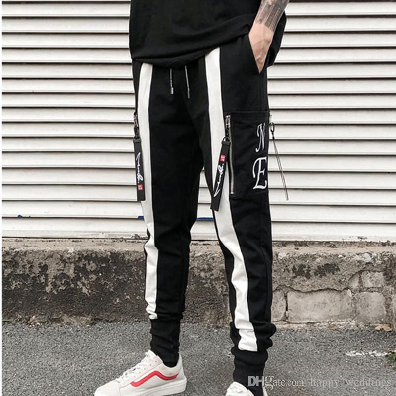 2019 High Quality Men Streetwear Hip Hop Harem Pants Elastic Punk Zipper  Trousers Mens Joggers Casual Sweatpants Pantalon Homme From Happy weddings d73e77f27