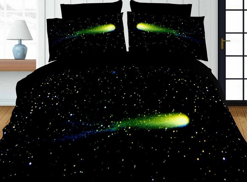 Home Bedding Set 4pcs Cheap 3D Printing Duvet Cover Bed Sheet Pillowcases Rose Plant Tiger Star Meteor Queen For Adults SMN27