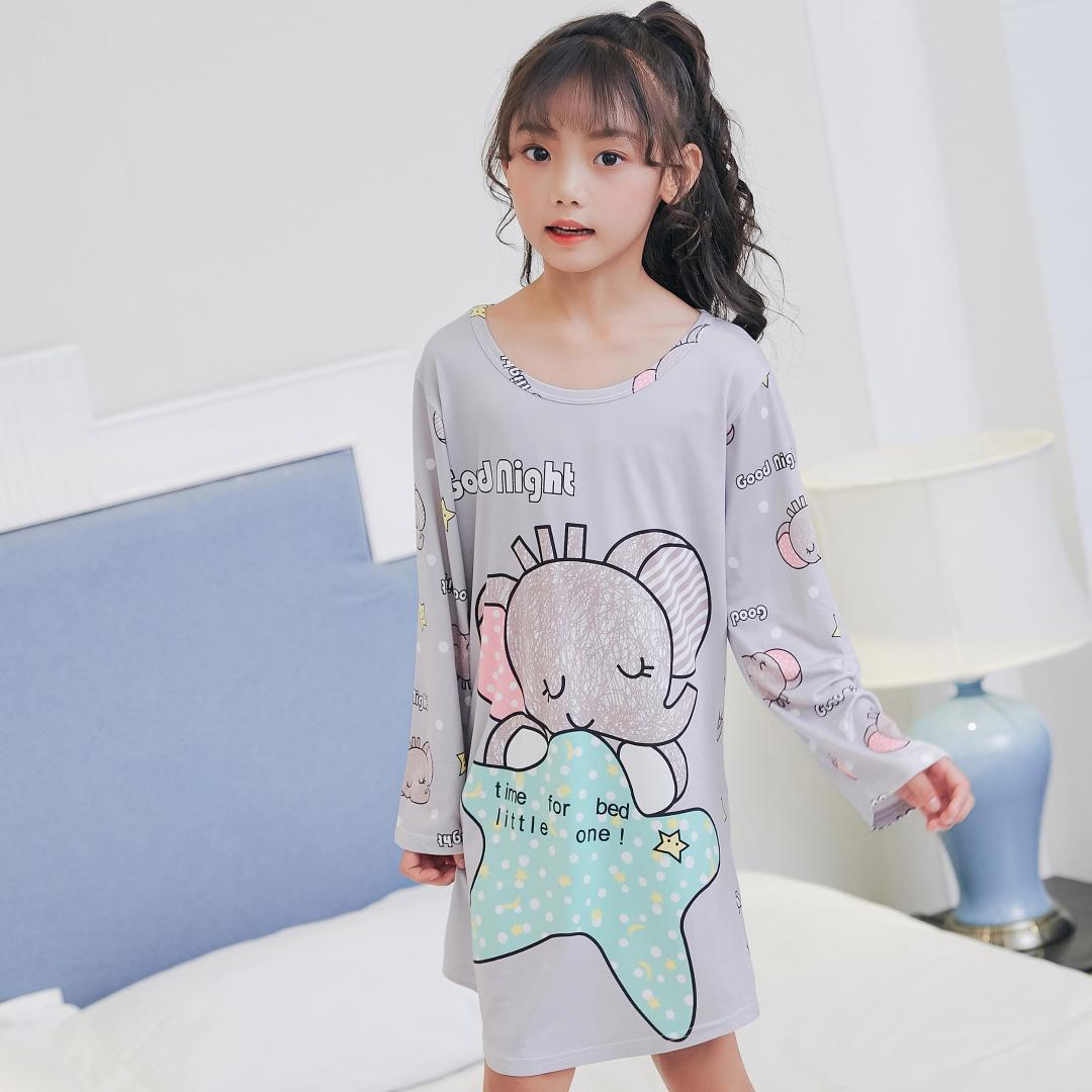 c4223843c2c4 Children Clothing 2018 Autumn Dresses Girls Baby Pajamas Cotton Princess Nightgown  Kids Home Girl Sleepwear Party Kids Nightgown Cheap Kids Pajamas Sale ...